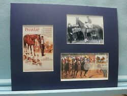 Honoring The Great Race Horse - Phar Lap And First Day Cover Of Horse Racing Stamp