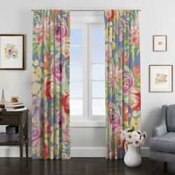 Boho Floral Lined Window Curtains By Folknfunky