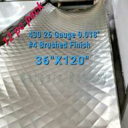 12pc 36 X 120 Quilted Stainless Steel Sheet Wall Covering, 26 Gauge 0.018