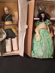 Franklin Heirloom Dolls Gone With The Wind Collector's Dolls Set Of 4