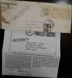 O 1953 United States Usa Delayedandnbsp By Fire Board S.s. Vessel Celebes - Mailroom