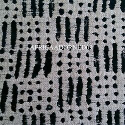 2h2 African Inspired Mud Cloth Hvy Weight Woven Upholstery Fabric 10yards Blue