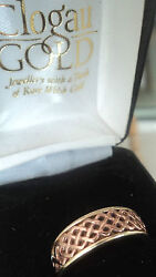 Early Welsh Gold 9ct Clogau Gold Celtic Lady Guinevere Ring - Size O