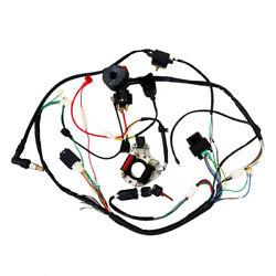 Full Electric Wiring Harness Coil For 50 70 90 110cc 125cc Atv Quad Buggy Gokart