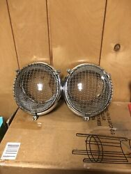 Vw Volkswagen Hella Headlight Assembly Sb19 With Stone Guards Porsche Rally