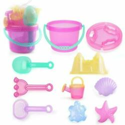 Lotfancy Beach Toys For Girls Sand Toys For Toddlers Beach Toy Set With Bucket $20.11