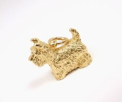 Tiffany & Co 18K Yellow Gold Dog Scottie Terrier Charm Pendant