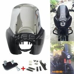Front Headlight Fairing + 15 In Windshield Kit For Harley Dyna Fat Bob Fxdl Fxdf