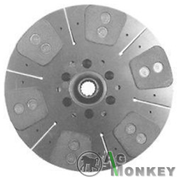 R43203 Hd6 New 13 1/2 Dual Stage Clutch Disc 6-large Pads For John Deere 4320