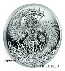 5 Oz 2018 Mark Of The Beast Proof - Death Of The Dollar 13 Silver Shield 999 Ag