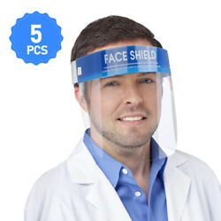 5PCS Safety Full Face Shield Clear Glasses Dust-proof Protector Eyes Tool