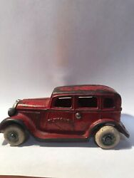 Arcade 1933 Plymouth Sedan Cast Iron Antique Toy Car With Nickel Grille