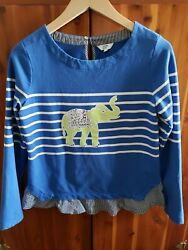 Crown ivy top size small. Blue with lime green elephant. Good condition.  $8.00