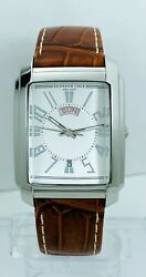 Kenneth Cole Kc1326w Menandrsquos Brown Croco Leather Strap Day Date Display Watch
