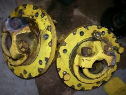 Vintage Oliver Super 55 Gas Tractor - Rear Hubs And U Bolts - As - Is -1958