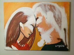 Very Large Conceptual Art And039 Unfinished Love And039 New York Street Artist Chic0