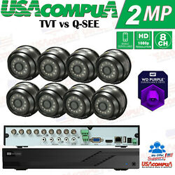 Tvt Vs Q-see Security Cameras System Dome 1080p Analog 8ch Dvr All Included