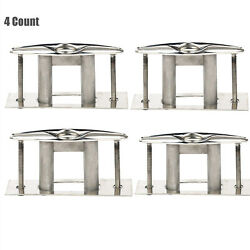 4 Pack 6 In Flush Mount Boat Marine 316 Stainless Steel Pull Up Cleat Deck Cleat
