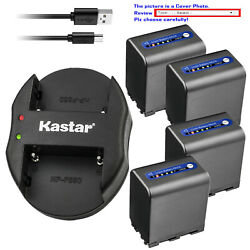 Kastar Battery Oval Dual Charger For Sony Np-qm91d And Sony Dcr-dvd200 Dcr-dvd201