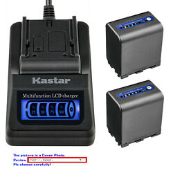 Kastar Battery Lcd Quick Charger For Sony Np-qm91d And Sony Dcr-dvd200 Dcr-dvd201