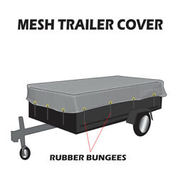 Xtarps Utility Trailer Mesh Cover W. 10 Pcs Of 9 Rubber Bungee, 50 Sizes