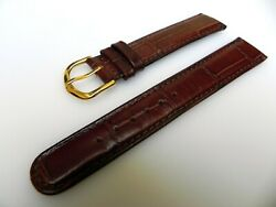 19 Mm Croco Leather Watch Band Strap For Patek Philippe,omega,jaeger Lecoultre