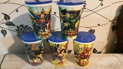 Dc Super Pawers Glass Superman,batmanandwonder Woman Made In Argentina