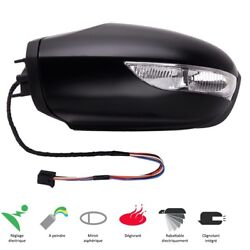Left Rear View Mirror Foldable Electric Primed Class B W245 A W169 2005-2008