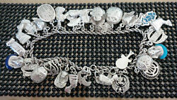 Handmade Phero Richy Egyptian Silver Anklet Stamped All Kind Of Pendants