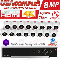 Hikvision 4k 16 Ch Security Camera System Wd Purple Included 4 Megapixel