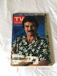 Tom Selleck Autographed Tv Guide Dec 27-jan 2, 1981 W/coa Extremely Rare Issue
