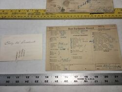 Chris Craft Boat 26andrdquo Card Hull 163 Equipment Record 1/1 1927 Signed Runabout 1/1