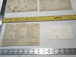 Chris Craft Boat 28andrdquo Card Hull 3001 Equip Record 1928 1st Runabout Rare 1/1 Old