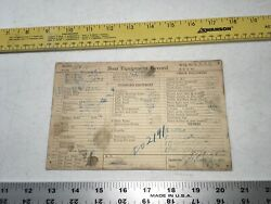 Chris Craft Boat Specs Card Hull Xxxx Equip Record 1927 26andrdquo 1/1 Motor Curtis Old