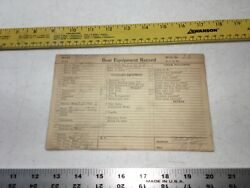 Chris Craft Boat Specs Card Hull 23 Equip Record 1927 26andrdquo 1/1 Motor Curtis Old
