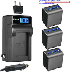 Kastar Battery Lcd Ac Charger For Sony Np-qm91d And Sony Dcr-dvd200 Dcr-dvd201