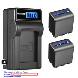 Kastar Battery Lcd Wall Charger For Sony Np-qm91d And Sony Dcr-dvd200 Dcr-dvd201
