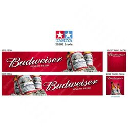Tamiya 2-axle 56302 14th Scale Budweiser Reefer Box Trailer Decals Stickers Gift