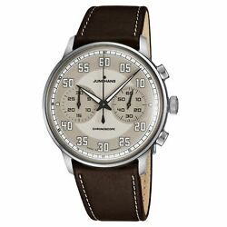 Junghans Meister Driver Chronoscope Self Winding Brown Menand039s Watch 027/3684.00