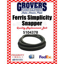 Ferris Replacement Drive Belt 5104378 Fits Is3200z Hydro And Srs Z2 And Z3 Belt