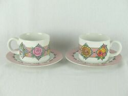 Sakura At Home W/ Mary Engelbreit Home Sweet Home 1994- 2cups/2 Plates Vintage