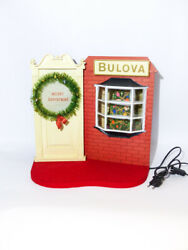 Bulova Christmas Display Advertising For Retailers From The 1940s