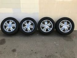 6 Lug Motto 20 Wheels With Goodyear Eagle Gt Tires For 1/2 Ton Chevy/gmc