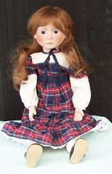Early Alresford Crafts Irene Doll England C1981 Cloth And Porcelain English Toy