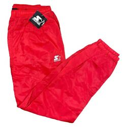 Vintage Starter NWT 90s Red Nylon Windbreaker Track Zip Jogger Pants Mens XLarge