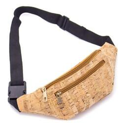 Cork Belt Bag Shoulder Bag Men's Women's Mobile Phone Pocket Eco Vegan