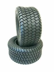 Two 18x8.50-10 Mower Tires Turf Heavy Duty 18x8.5-10 Lawn Tractor Tubeless Tires