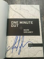 Signed And New - One Minute Out By Mark Greaney 2020-hardcover A Gray Man Novel