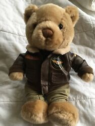 Cathay Pacific Airways Airline 9andrdquo Vintage Pilot Teddy Bear Plush Stuffed Toy