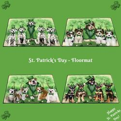 St. Patrickand039s Day Floormat Dogs Cats Pet Photo Lovers Gift Doormat Home Decor